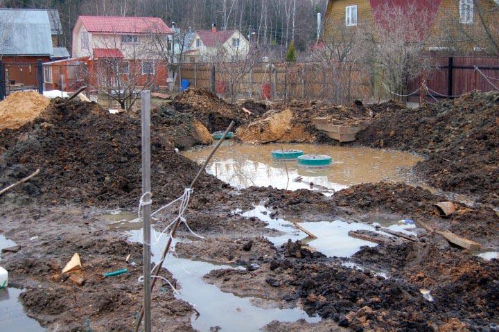 Выгребная яма при высоком уровне грунтовых вод своими руками